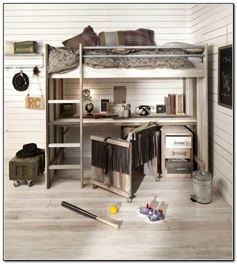 wood loft bed with desk underneath beds home design