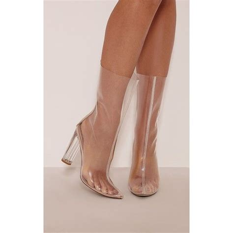 zizi clear perspex heeled boots 3 163 40 liked on polyvore