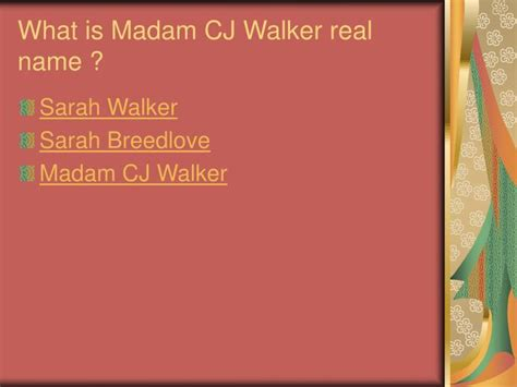 Madam Is Naming Names by Ppt Madam C J Walker Powerpoint Presentation Id 3199168