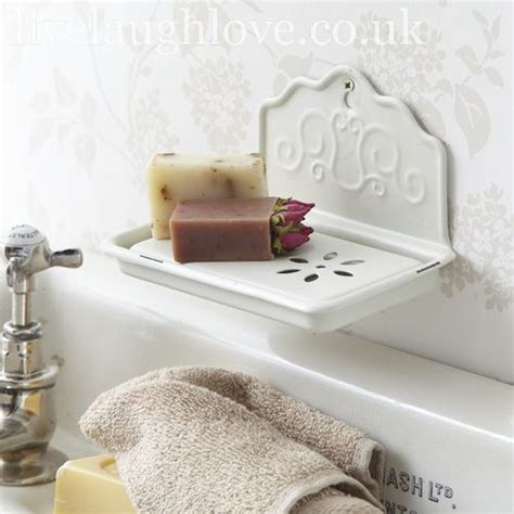 French Vintage Style Enamel Soap Dish Lovely Pinterest Chic Bathroom Accessories