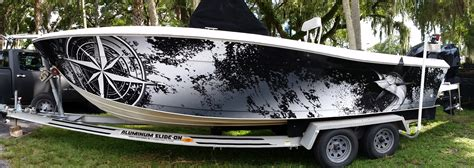 Car Wall Mural marine wraps stopping boat thefts suncoast wraps