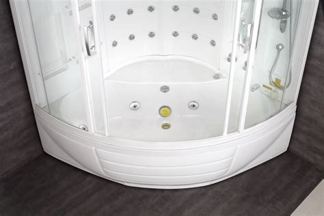shower to bathtub aston corner steam shower with whirlpool bathtub zaa216 56