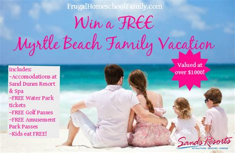 Free Vacation Giveaway - win a free family beach vacation worth 1 000