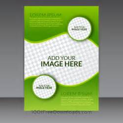 Vector Templates Free Free Vectors Green Business Vector Flyer Template Abstract