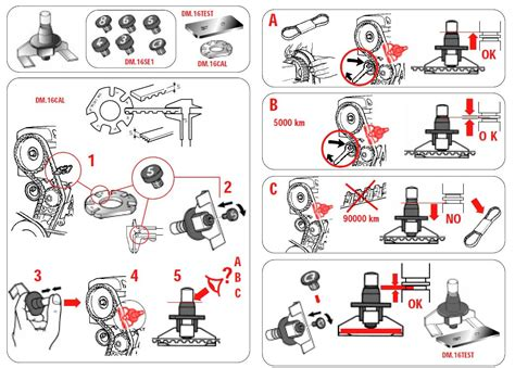 how to m timing belt tension gauge dm 16