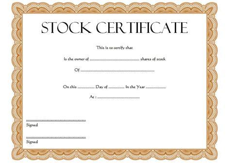 stock certificate template stock certificate template 1 jpg the best template