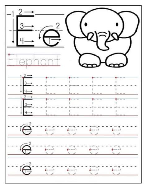 free printable letter e worksheets for kindergarten
