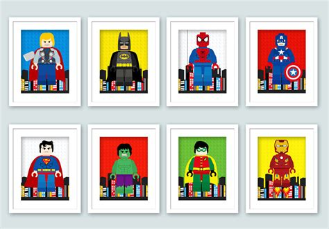 Lego Wall Decor by Lego Wall Posters Bedroom By Enipixels