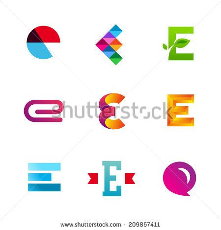 logo e layout letter e stock images royalty free images vectors