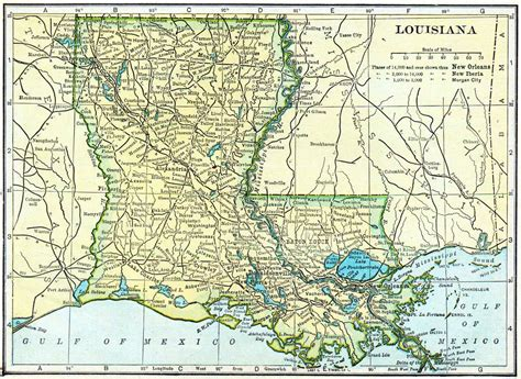 Records Louisiana 1910 Louisiana Census Map Access Genealogy