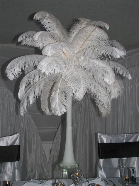 Ostrich Feather Centerpiece Decorations   Ostrich Feathers