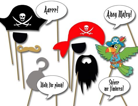 printable pirate party decorations diy pirate decoration photo booth props printable
