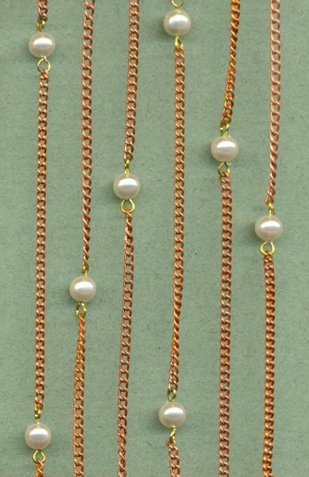Chain Of Pearl 1 2 copper coated steel pearl cable chain jan s jewelry supplies