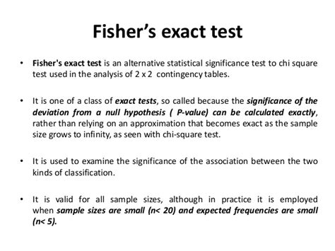 fisher exact test chi squared test
