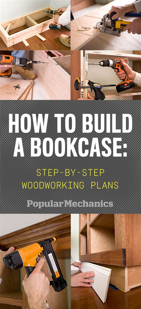 build  bookcase step  step woodworking plans