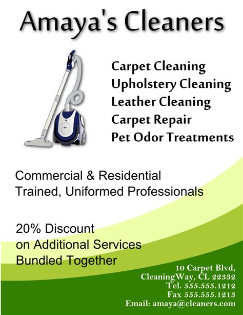 janitorial flyer templates cleaning flyer template free view larger image