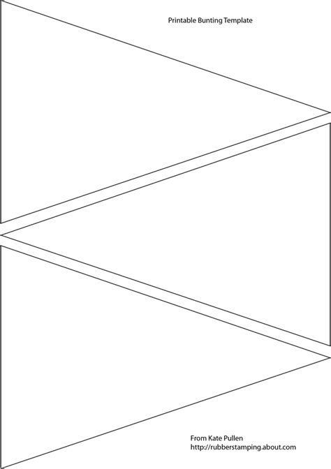 Card Bunting Template