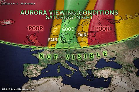northern lights viewing map northern lights might a visit to parts of the us