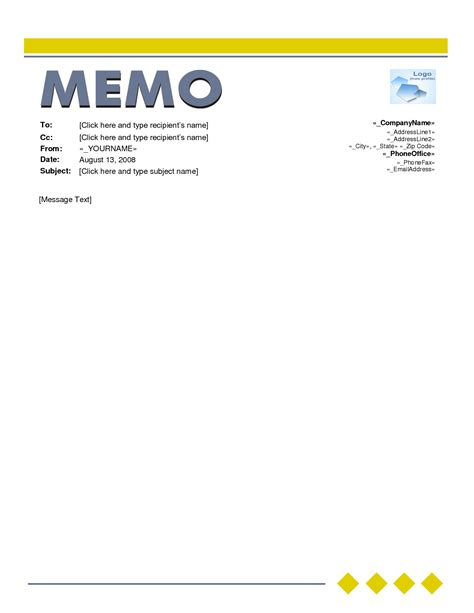 Memo Template With Logo Memo Template Word Beepmunk