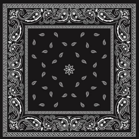 bandana template black with white bandana patterns design vector 02 free