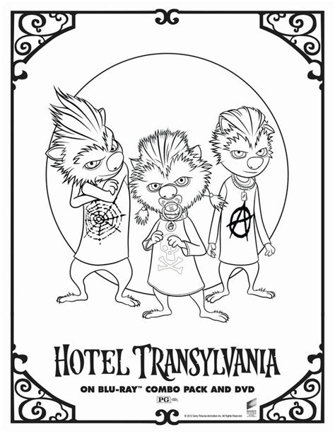 halloween coloring pages hotel transylvania hotel transylvania s wolf pups free printable coloring