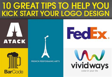 10 Tips On How To Start Working by 10 Great Tips To Help You Kick Start Your Logo Design