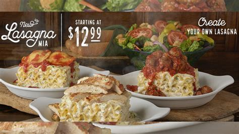 5 cheese lasagna olive garden olive garden launches create your own lasagna chew boom