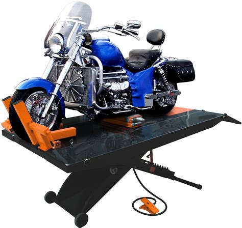 how to a motorcycle lift table 1500 lb 110 quot table motorcycle lift w side ext free