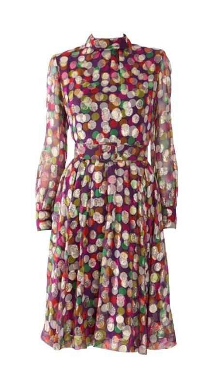 Fc Dress Fashion 1 hardy amies metallic spotted dress 1960s pattern inspiration
