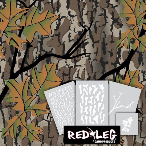 camo templates for painting redleg camo fall woods camouflage stencil kit 4 stencils