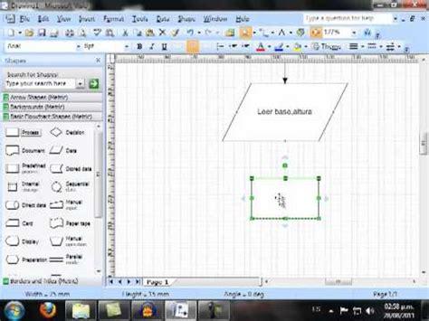 visio printable area tutoriales microsoft visio area de un triangulo youtube