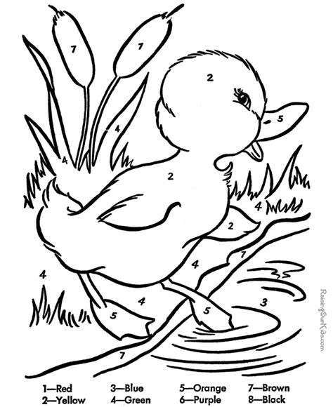 printable color by number coloring pages coloring home