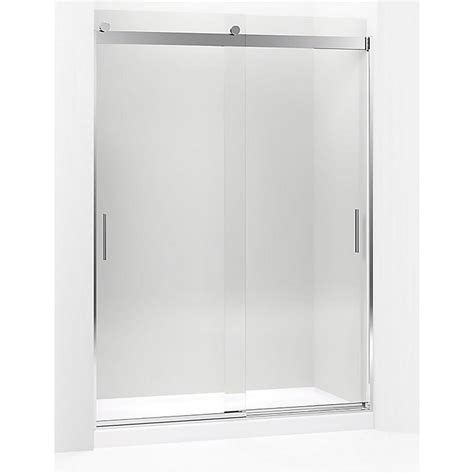 Kohler Levity 59 625 In W X 82 In H Frameless Sliding Levity Shower Door