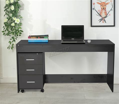 desk table with drawers foxhunter computer desk table with 3 drawers home office