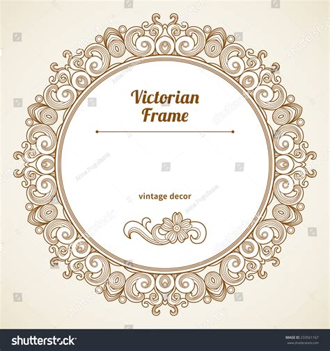 the images collection of vector round label victorian round vintage filigree vector frame victorian style shape stock vector