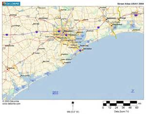 gulf coast of texas map map of texas gulf beaches pictures to pin on pinsdaddy