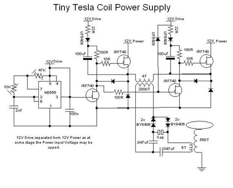 Tesla Coil Circuit Electronic Transformer Schematic Dimmer Schematic