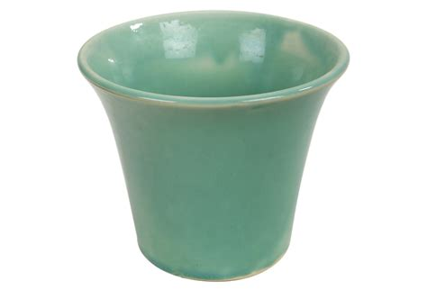 vintage green pottery planter omero home