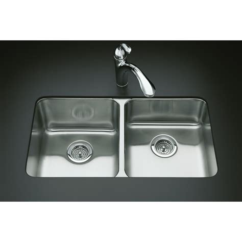 shop kohler undertone stainless steel basin drop in