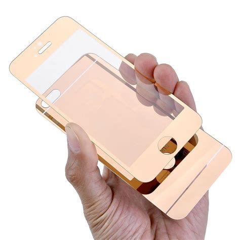 Colorful Mirror Tempered Glass For Iphone 44s55s66 front back mirror color tempered glass screen protector for iphone 5 buy color tempered glass