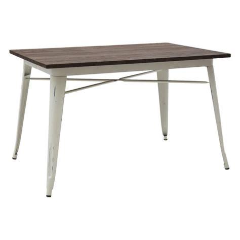 tavolo bianco anticato tavolo rettangolare piano legno con gambe in acciaio