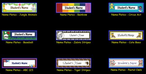 student desk name tags custom classroom newsletter printable sle home