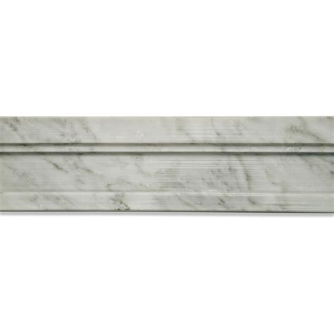 marble chair rail shop 2 x 12 novel chair rail polished marble tile liner in
