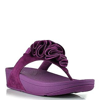Sandal Wanita Fitflop Banda Flower lyst fitflop frou purple suede flower sandal in purple