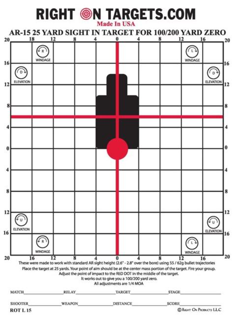 printable ar 15 zeroing targets rifle zeroing targets pictures to pin on pinterest thepinsta