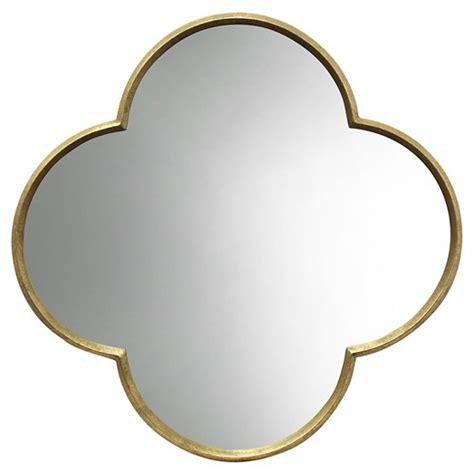 target mirrors quatrefoil decorative wall mirror gold finish threshold