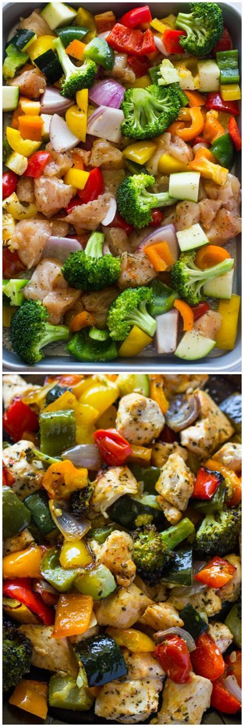 15 minute healthy roasted chicken and veggies one best 25 roasted broccoli and carrots ideas only on