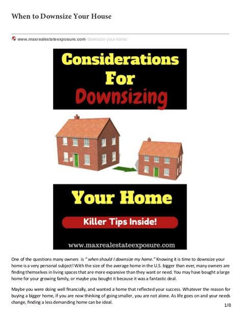 what to know if you downsize your home to save money discover when to downsize your house