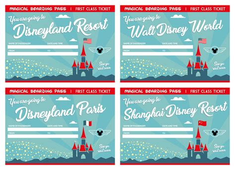 printable disneyland tickets 12 printable tickets for all disney world and disneyland