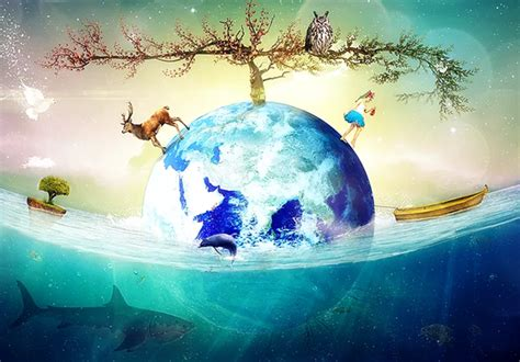 pattern photoshop earth spectacular photo manipulation tutorials artworks